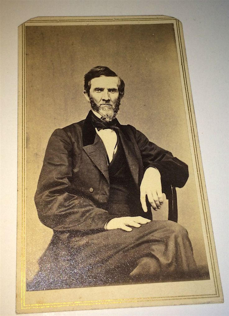 Antique Civil War American Dapper Gentleman White Beard Hartford Ct CDV Photo | eBay