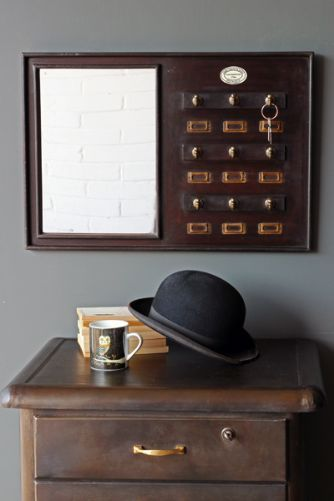 Traditional Mirror with Key Hooks