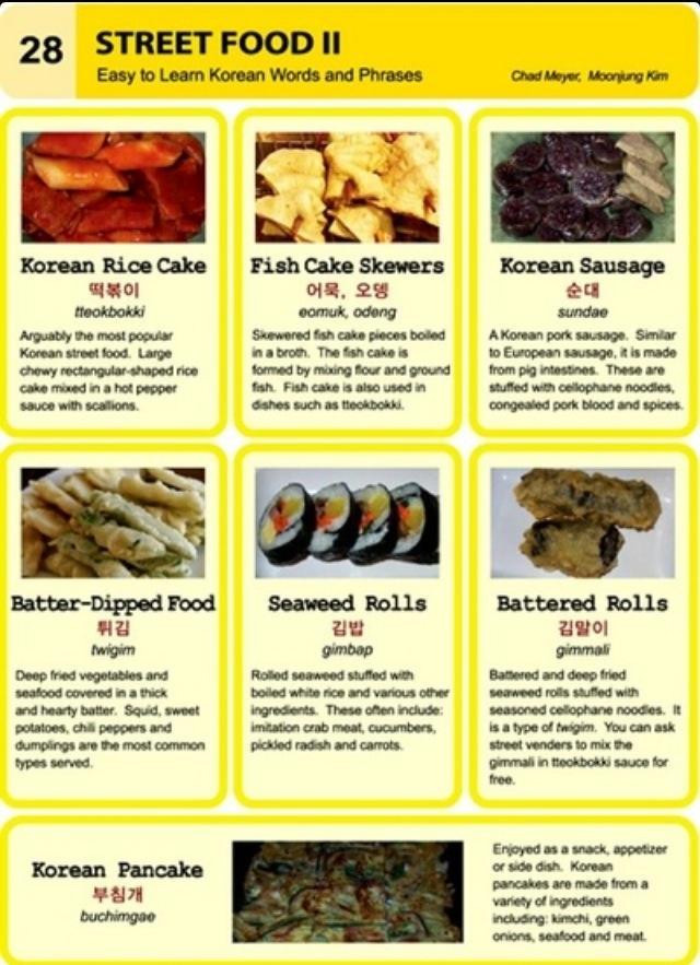 Learning Korean - Street Foods II