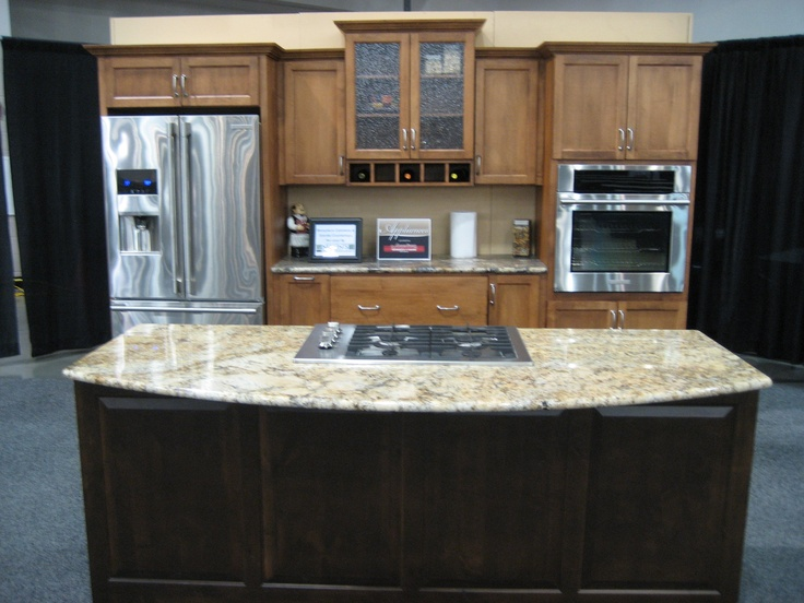 Nonnu0027s Custom Granite Countertops And @Showplace Cabinetry Came Together To  Create This Beautiful, Working