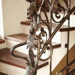 A wrought iron dragon - a detail