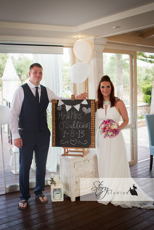 Carol and Eoghann's Cameo Island and Balcony Wedding in Zante by The Bridal Consultant