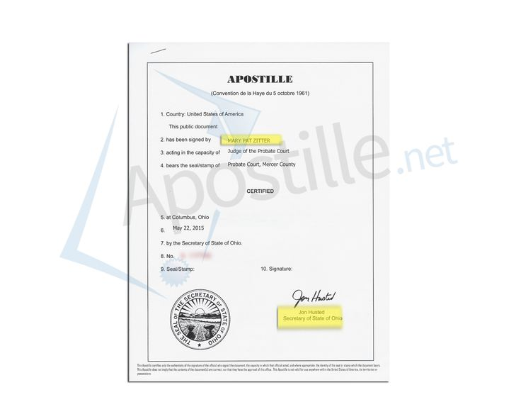 This is a sample of an Ohio Birth Certificate acceptable for - copy apostille birth certificate massachusetts