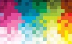 fototapet patratele colorate