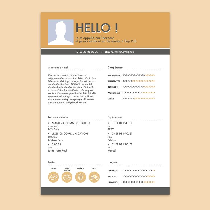 128 best cv cr u00c9atif images on pinterest