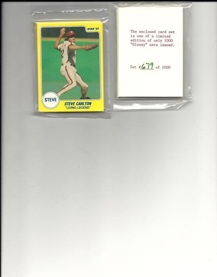 1988 Steve Carlton star company glossy set Philadelphia Phillies #ed out of 1000