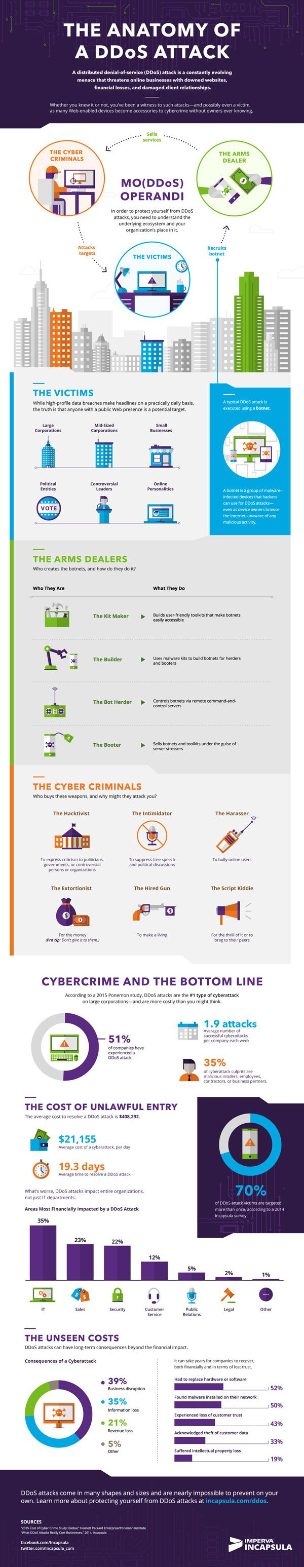 The Anatomy of a DDoS Attack #Infographic