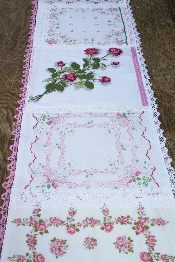 Isa Creative Musings: Vintage Hankie Table Runners, Part I