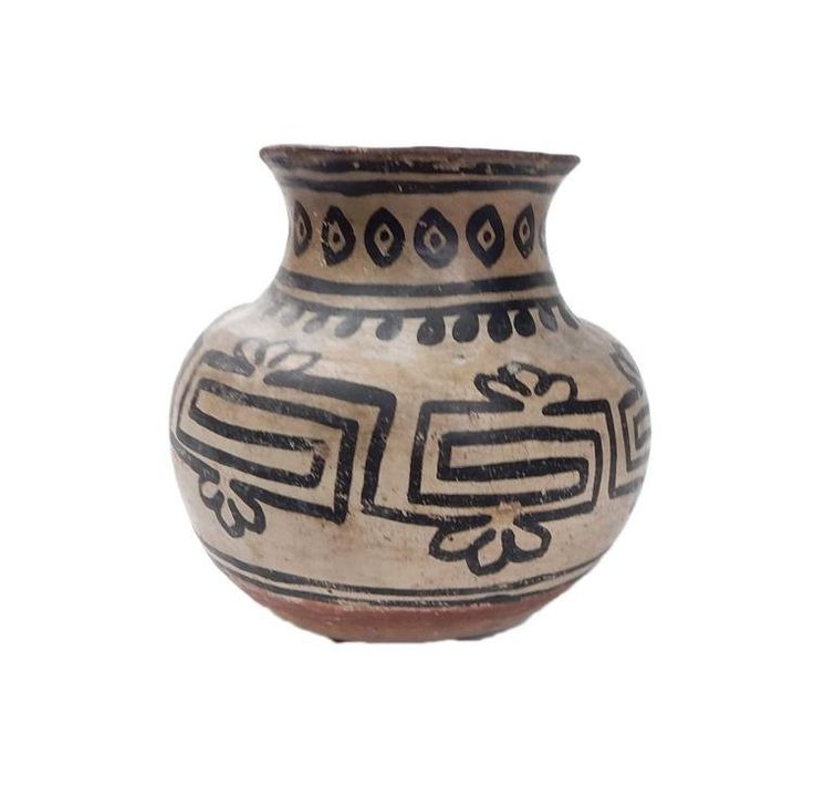 Native American Pottery : Very Rare Early Native American Tesuque Pottery #201