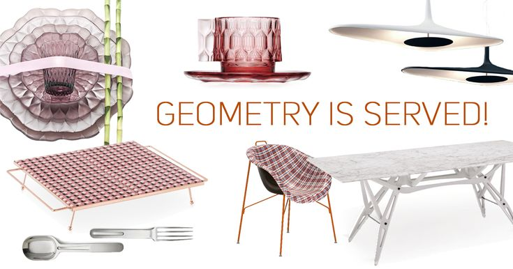 Ideas and trends for setting your table with geometrical patterns.