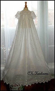 Gorgeous Heirloom Quality Christening Gown Set - Handmade