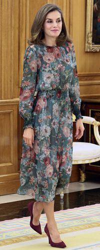 17 Oct 2017 - Queen Letizia attends audience hearing