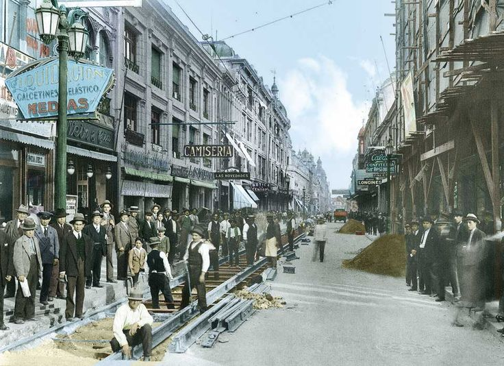 Calle Ahumada de Santiago en 1931