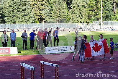 Opening ceremonies of Vancouver Sun Harry Jerome International Track Classic with Derek Drouin,  Canadian High Jump Athlete. Picture taken June 17, 2016