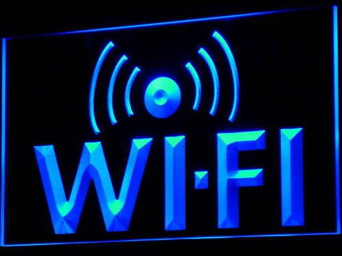 Wi-Fi Internet Access Cafe Shop Neon Light Sign