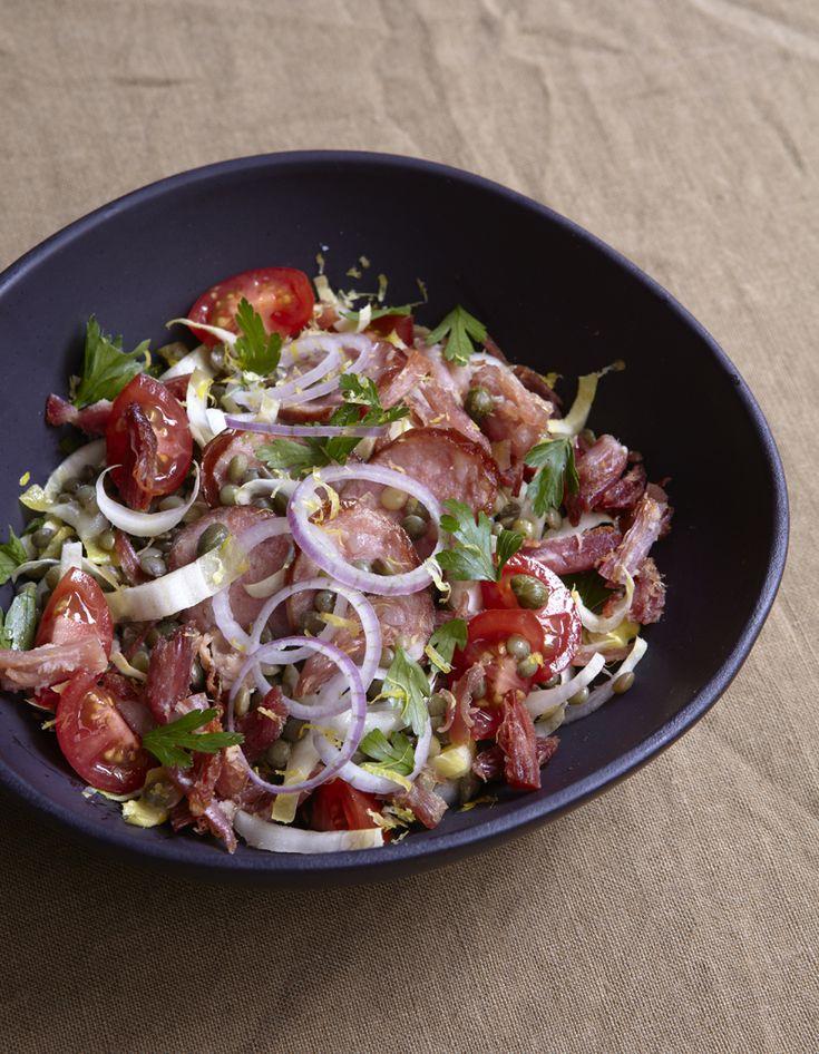 Recette Petit salé croustillant en salade