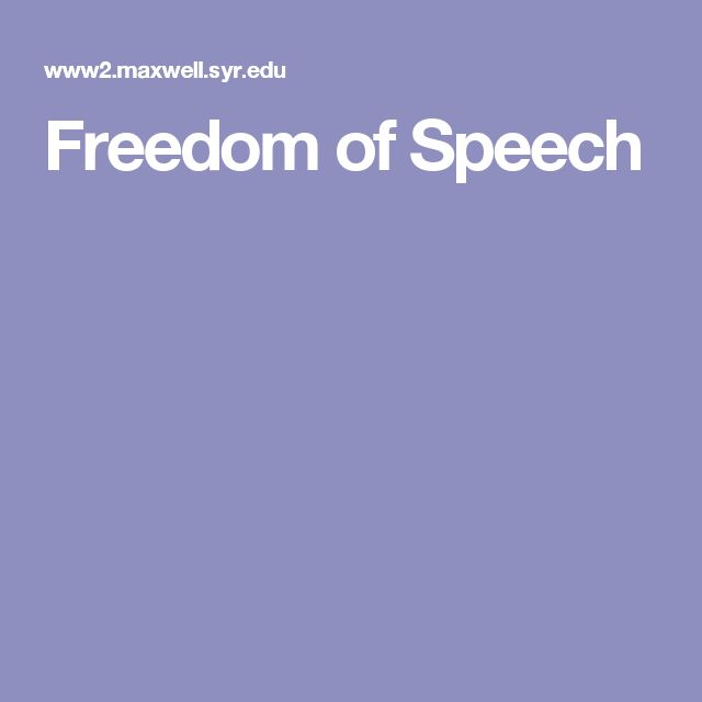 mass media and freedom of speech Mass media and the freedom of speech introduction although references to elements of freedom of speech for the mass media and the press were made as early as 1770, not much had been achieved then.