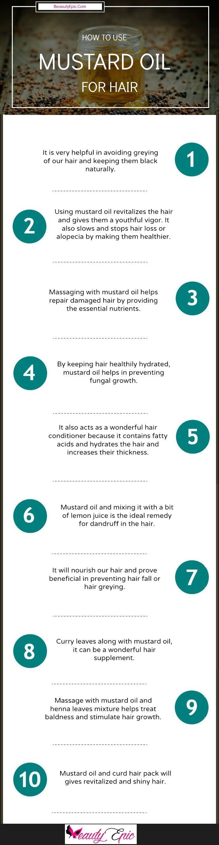 10 Best Ways to Use Mustard Oil for Hair #haircareoil,