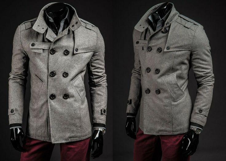 GANEDER 1903 - SZARY SZARY   On \ Płaszcze męskie \ Płaszcze ocieplane   Denley - Odzieżowy Sklep internetowy   Odzież   Ubrania   Płaszcze   Kurtki