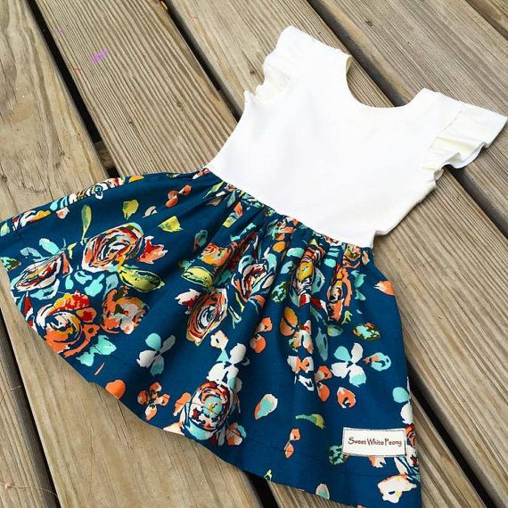 Hey, I found this really awesome Etsy listing at https://www.etsy.com/listing/206187082/cora-navy-floral-dress-easter-baby-dress