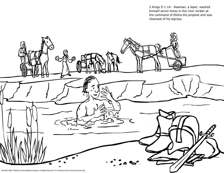 naaman and the servant girl coloring pages - photo #21