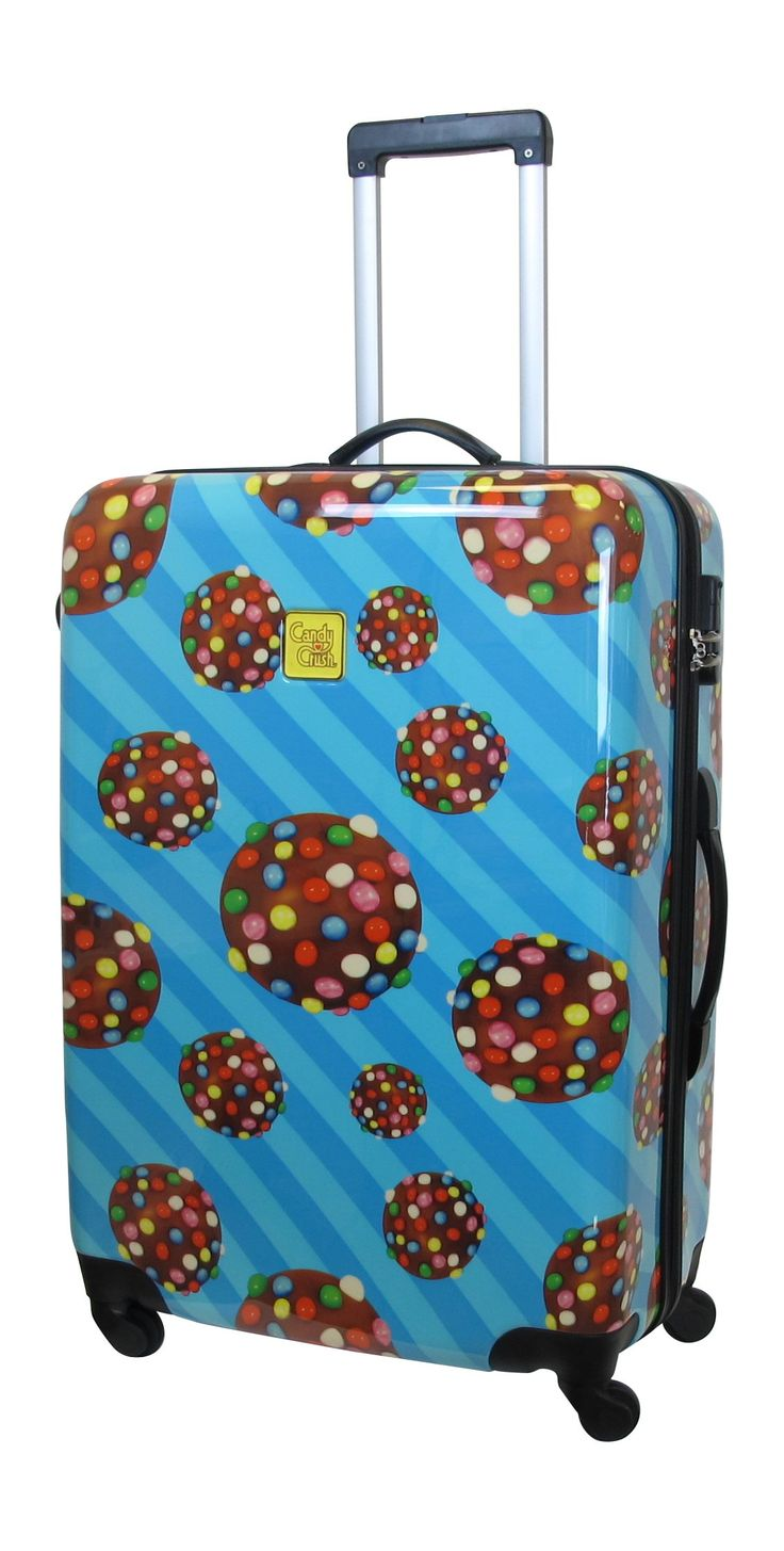Candy Crush Cabin Bag Prallin Large, Multi-Colored, One Size. Aluminum adjustable handle. Plastic wheels.