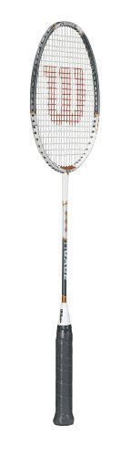 Wilson NGage Badminton Racket (Grey/Orange, 662 mm) by Wilson. $39.99. Engineered with Wilson exclusive Hybrid technology!Length: 662 mmPlayer: Doubles