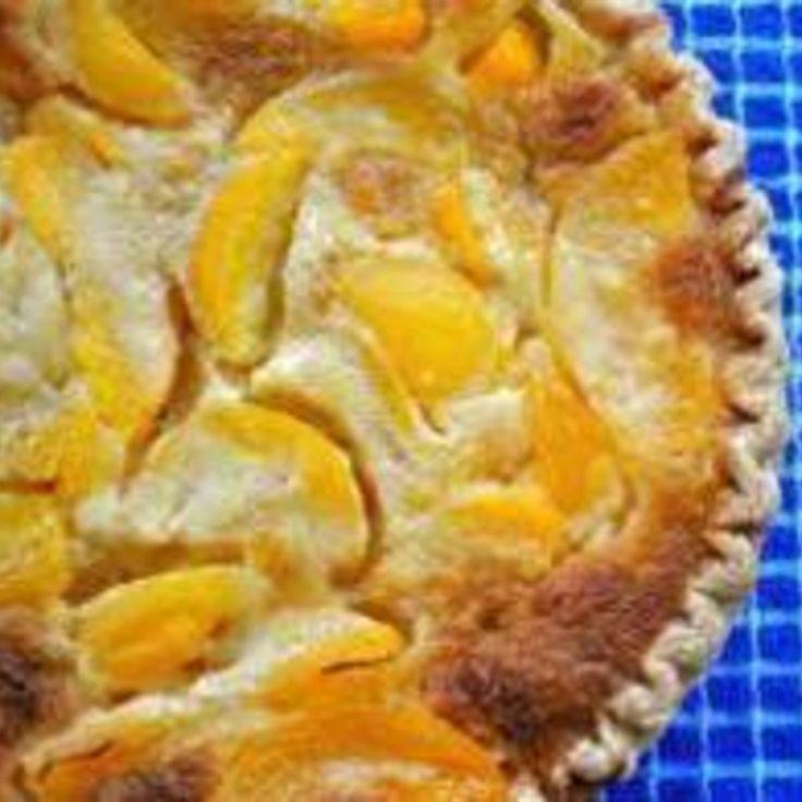 Fresh Peach Custard Pie