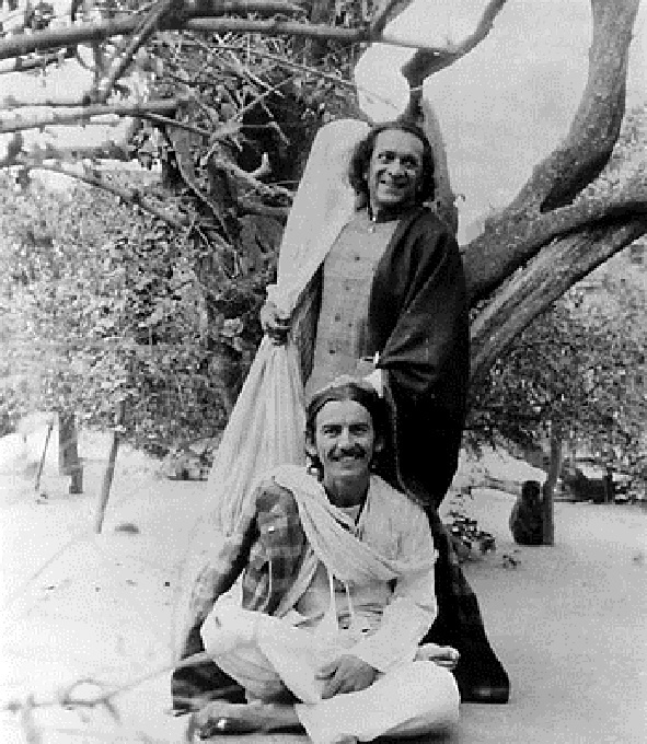 George with his friend and mentor Ravi Shankar~