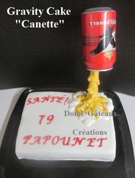 Gravity Cake: Canette de Bière en Pâte à Sucre