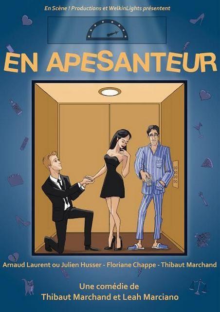 Ce soir, un Show-Case au Théâtre MONTMARTRE-GALABRU, une représentation pour la presse de la pièce APESANTEUR, qui devrait être programmée à Paris, très bientôt. C'est une Comédie de Thibaut MARCHAND et de Leah MARCIANO. J'avais vu ces deux comédiens...