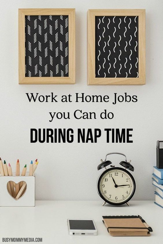 Work at Home Jobs you Can do During Nap Time | Great ideas for work at home jobs for moms including a great list places you can find work at home jobs.