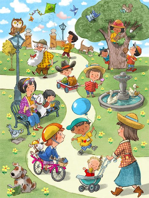 John Nez Illustration - Peter Panda { a child's world; color, action, character-perfect }