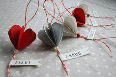 paper heart ornaments