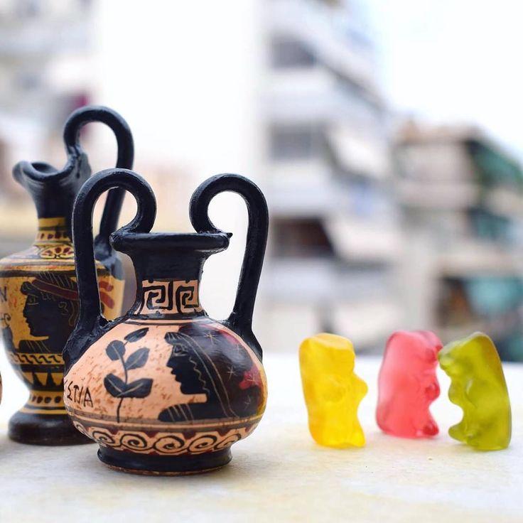 "So sweet miniatures arrived!  ""Taste"" the greek handmade ceramic creations on www.acropolisgallery.etsy.com  Greek Ceramic Museum Replica Vase - Handmade in Greece"