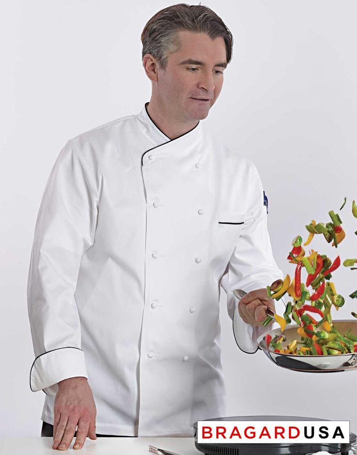 Bragard Jolione Chef Coat - Black Piping