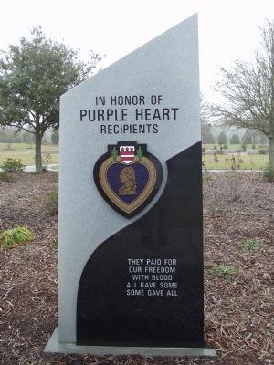 Purple Heart Recipients Marker Photo, Click for full size