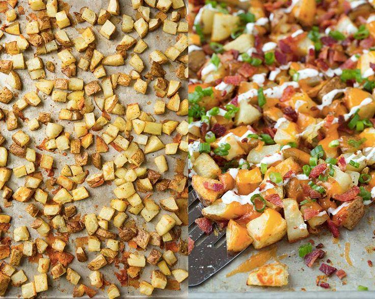 Patatas rancheras asadas con bacon