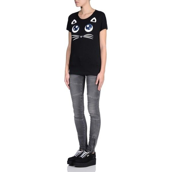 Karl Lagerfeld Choupette Big Eyes Tee ($91) liked on
