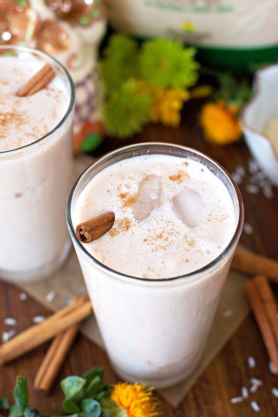 You're going to love this quick & easy horchata made with natural ingredients! It's got a sweet cinnamon flavor and can be whipped up in just 45 minutes!