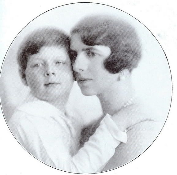 Queen Elena of Romania and her son, Michael.
