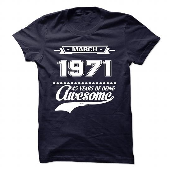 Mar-71 T Shirts, Hoodies. Check Price ==► https://www.sunfrog.com/Birth-Years/March-1971.html?41382