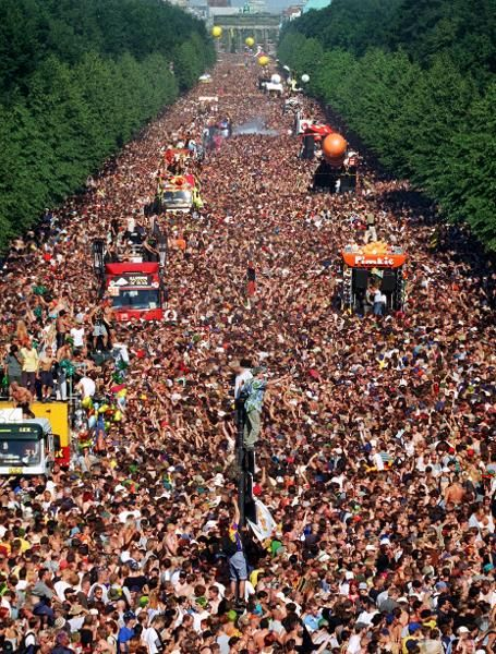 Love Parade, Berlin. Some of my favorite memories that I can't remember. (: