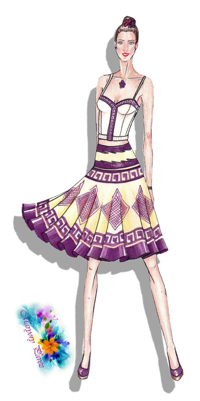 Faldas trabajo dise o figurines de moda pinterest for Disenos de faldas