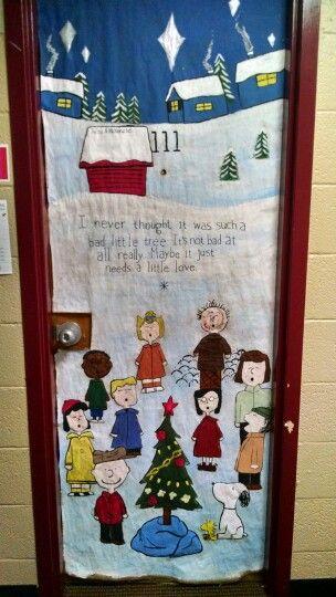 Door Decorations Charlie Brown Christmas Charlie Brown