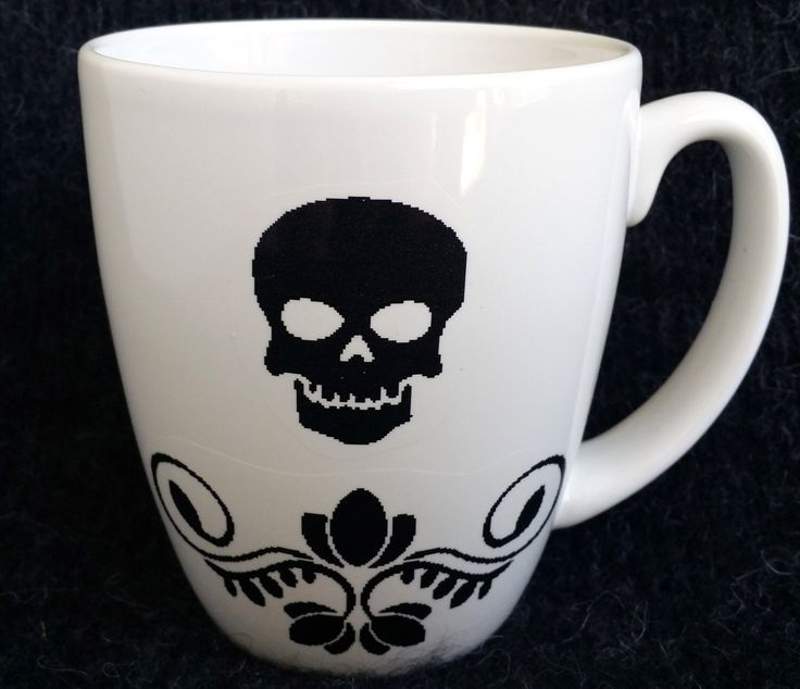 Memento Mori Skull Mug by SqueeSquared on Etsy https://www.etsy.com/listing/161488561/memento-mori-skull-mug