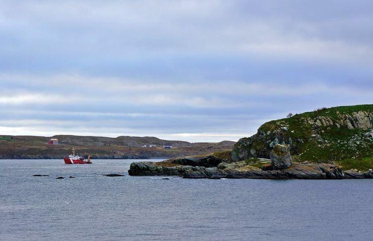 Coast Guard Boat sailing near Fergus Island