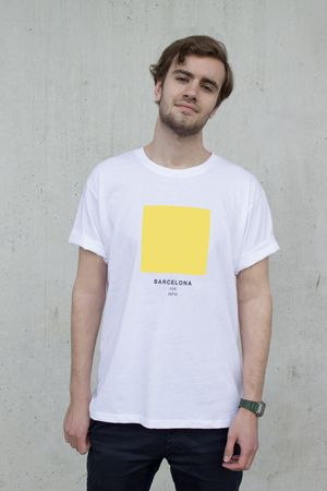 Barcelona - The Ci-Tee collection is based on a google search of each individual city, and each colour code is based on the most frequent colour that comes up on google when googling. It's a fun way of showcasing cities around the world through a colour instead of a flag. See more Ci-Tee shirts at amesstore.se