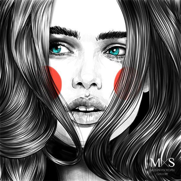 Illustrations and realistic artworks by Mustafa Soydan