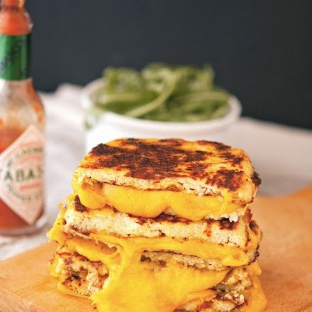 Trust in this crust! Try this #cauliflower crust #grilledcheese